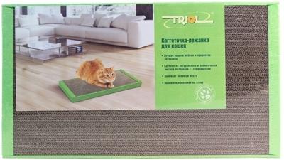Триол CT48 Когтеточка-лежанка с кошачьей мятой, картон 50*24*3,5см