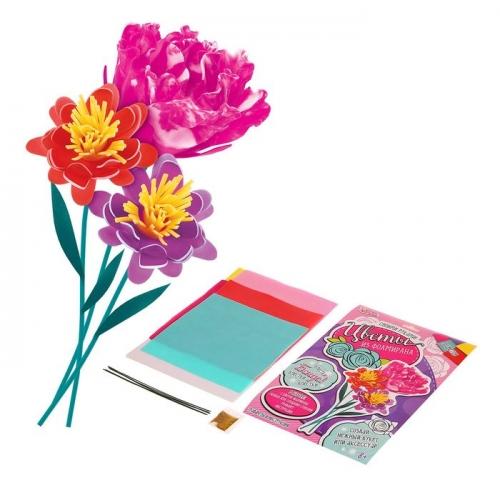Фоамиран для создания цветов, набор: 5 цветов