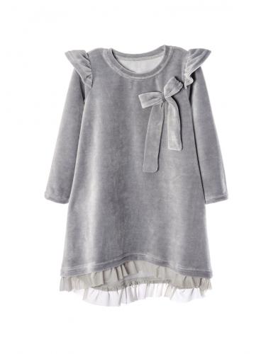 Платье 855А5 серый