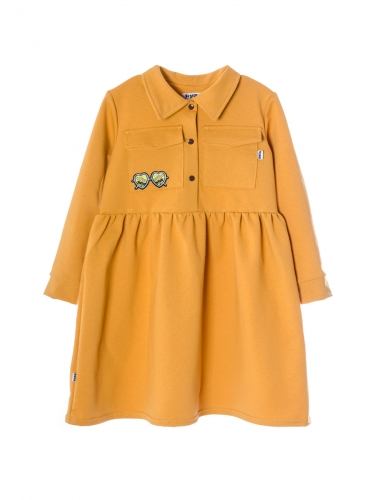 Платье 946А горчичный