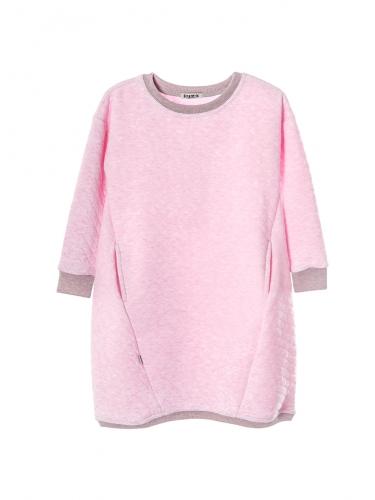 Платье 961А розовый меланж