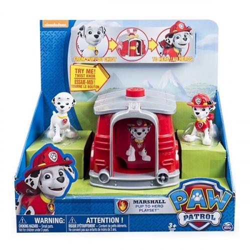 Игрушка Paw Patrol игровой набор два щенка в домике