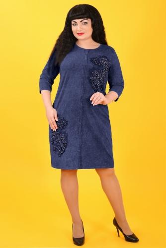 СИМАН Т-420 Платье синий