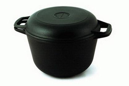 Казан а/пр литой 5,0л кр/сковорода 6850