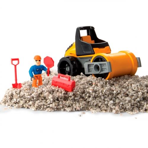 Песок для лепки Kinetic Sand серия Rock.141 грамм, машина, аксессуары
