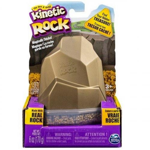 Песок для лепки Kinetic Sand серия Rock. 170 грамм в контейнере. 1 цвет.