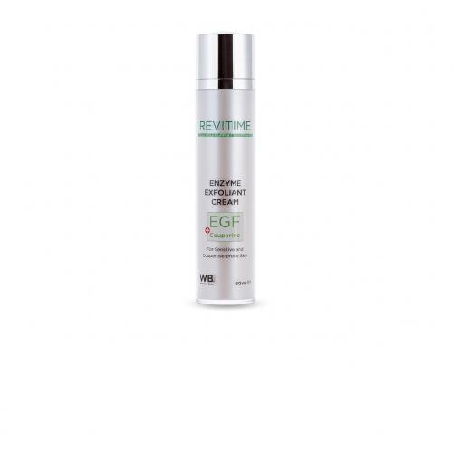 Энзимный крем-эксфолиант для лица для чувствительной и склонной к куперозу кожи c EGF и Couperine - 50 мл