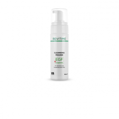 Очищающий мусс для чувствительной и склонной к куперозу кожи c EGF и Couperine - 180 мл