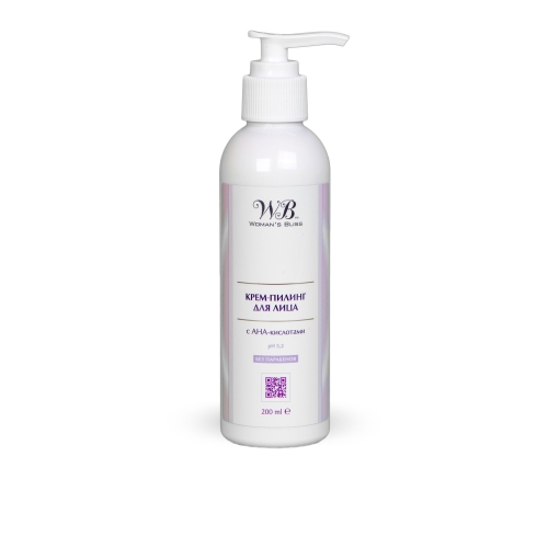 Крем-пилинг для лица с AHA‑кислотами (pH 3,8) / Peeling Cream for Face with AHAs