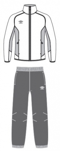 LIGHT WOVEN SUIT костюм спортивный, (018) бел/т.серый