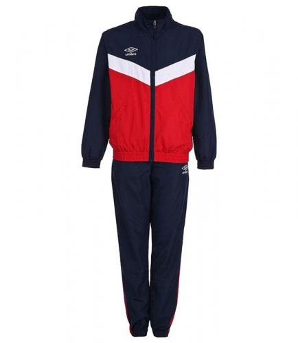 UNITY LINED SUIT, костюм спорт. муж.(брюки прямые), (291) красн/т.син/бел