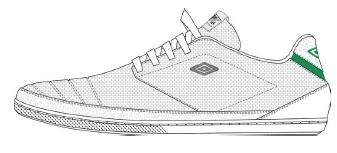 2013р. 2196р. UMBRO BOW, обувь повсед., муж, (CBQ) бел/зел