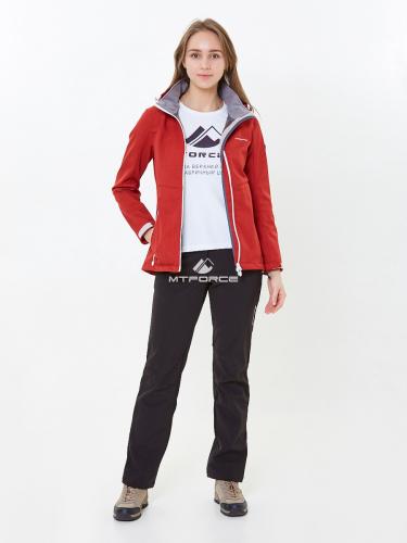 6185ecf0 ... Женский осенний весенний спортивный костюм softshell красного цвета  01907Kr ...