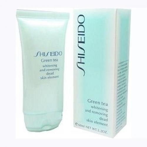 Гель-пилинг для умывания Shiseido Green Tea Whitening and Removing Dead Skin Element 60ml(копия)
