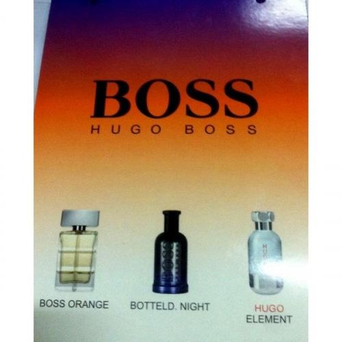 Подарочный набор Hugo Boss в пакете Boss Orange+Botteld Night+Hugo Element 3x15 ml (мужской)(копия)