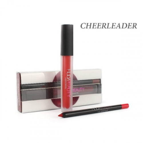 Набор Hudabeauty Liquid Matte 2in1 Cheerleader (помада и карандаш)(копия)