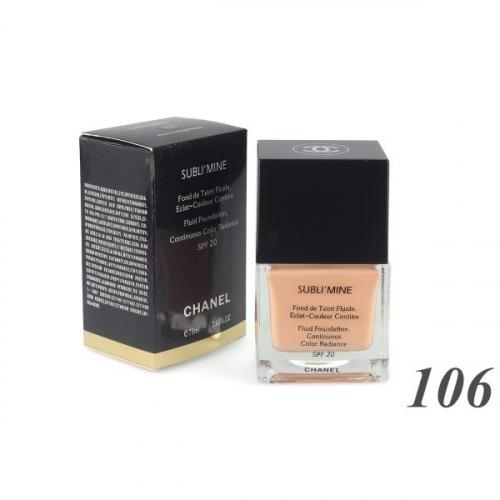 Тональный крем Chanel Sublimine Fond de Teint Fluide 75 ml №106(копия)