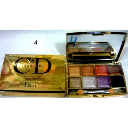 Тени CD colour iridescent eye shadow (8цв.)(7 перламутр+1 мат.тон) №4(копия)
