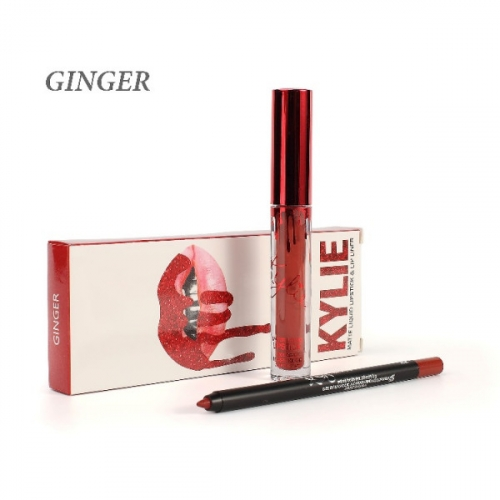 Набор Kylie Matte Liquid Lipstick and Lip Liner 2in1 Ginger (помада и карандаш) копия