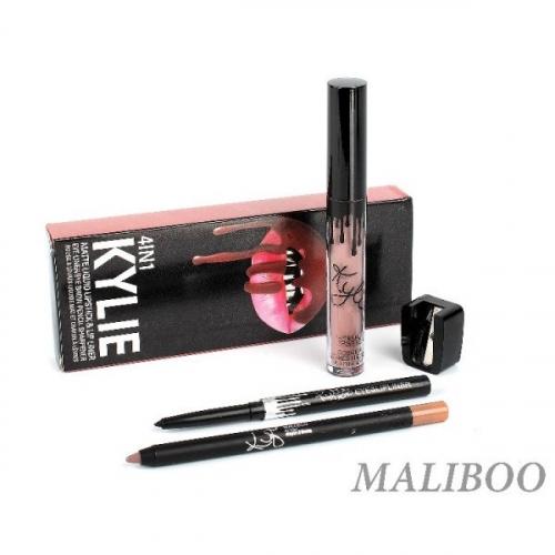 Набор Kylie 4in1 Maliboo (помада, карандаш д/губ, карандаш д/глаз точилка)(копия)