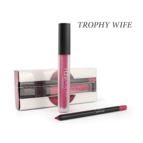 Набор Hudabeauty Liquid Matte 2in1 Trophy Wife (помада и карандаш)(копия)