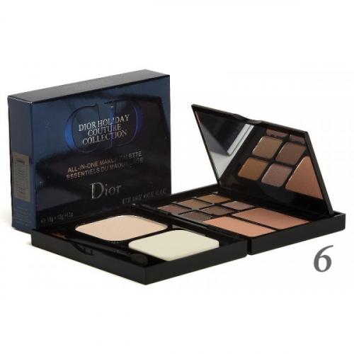Набор для макияжа Dior Holiday Couture Collection Makeup Palette 18g+12g+12g (пудра, румяна и тени) №6(копия)