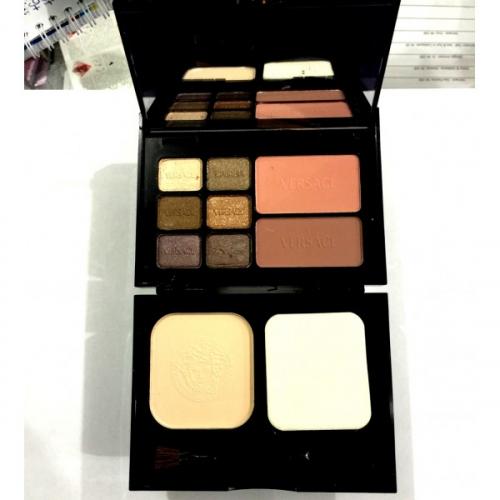 Набор Versace Travel Makeup Palette 6 colour eyeshadow 2 colour blusher 1 colour powder 18g 12g 12g №2(копия)