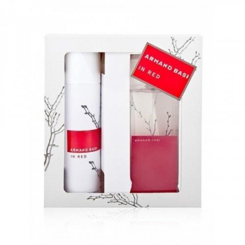 Подарочный набор 2в1 Armand Basi In Red edt парфюм и дезодорант(копия)