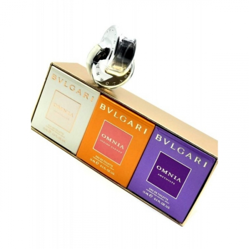 Подарочный набор Bvlgari The Omnia Purse Spray Collection 3x15ml(копия)
