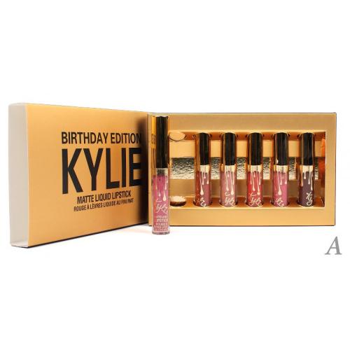 Помады жидкие матовые Kylie Birthday Edition Matte Liquid Lipstick (6шт) (золото) А копия