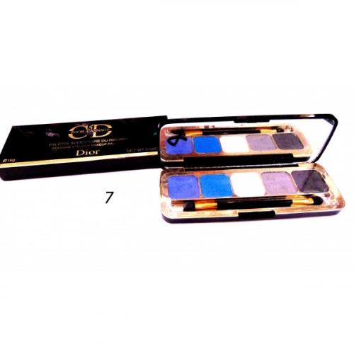 Тени матовые CD 5 Dior Cannage Palette Accessoire Du Regard 16g №7(копия)