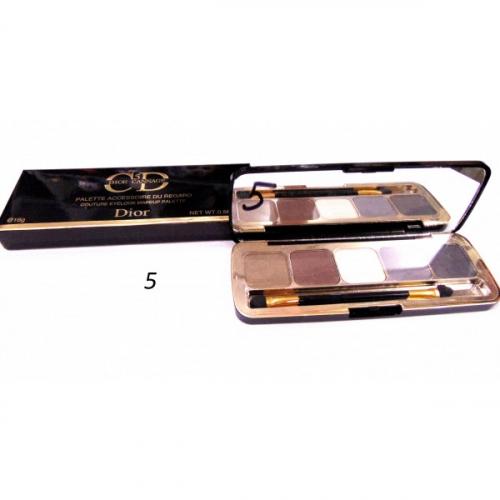 Тени матовые CD 5 Dior Cannage Palette Accessoire Du Regard 16g №5(копия)