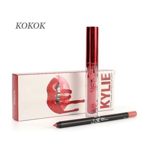 Набор Kylie Matte Liquid Lipstick and Lip Liner 2in1 Koko K (помада и карандаш) копия