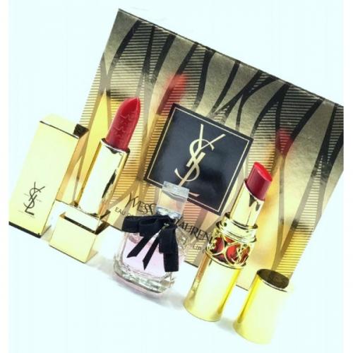 Подарочный набор YSL 3в1 парфюм и 2 помады(копия)