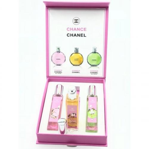Подарочный набор парфюмов Chanel Chance женский 3x20ml(копия)