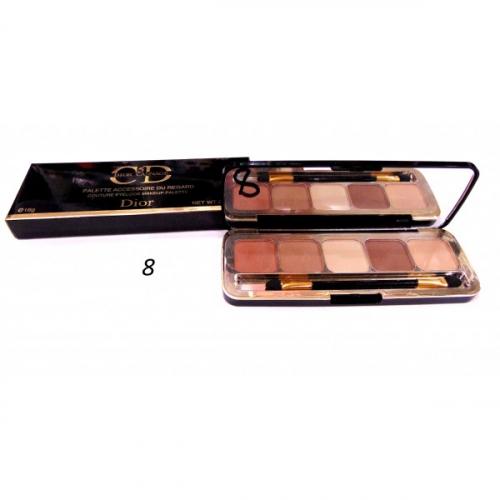 Тени матовые CD 5 Dior Cannage Palette Accessoire Du Regard 16g №8(копия)