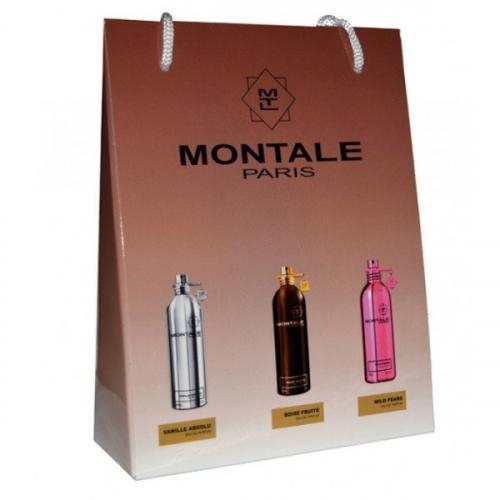 Подарочный набор Montale в пакете Vanille Absolu+Boise Fruite+Wild Pears 3х15ml (унисекс)(копия)