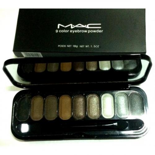 Тени для глаз и бровей MAC 9 Color Eyebrow Powder 10g №6(копия)