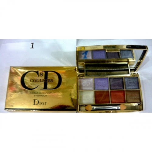 Тени CD colour iridescent eye shadow (8цв.)(7 перламутр+1 мат.тон) №1(копия)