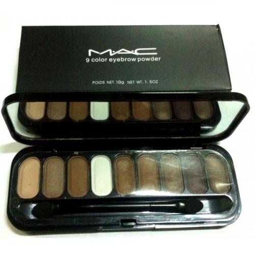 Тени для глаз и бровей MAC 9 Color Eyebrow Powder 10g №2(копия)