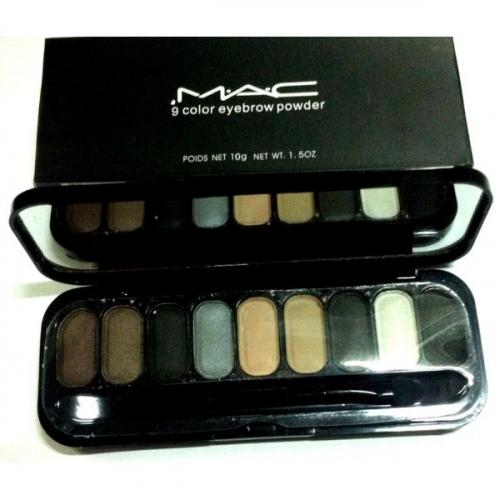 Тени для глаз и бровей MAC 9 Color Eyebrow Powder 10g №3(копия)