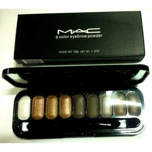 Тени для глаз и бровей MAC 9 Color Eyebrow Powder 10g №8(копия)