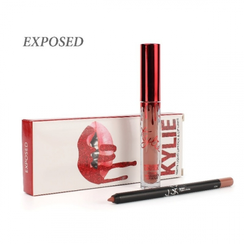 Набор Kylie Matte Liquid Lipstick and Lip Liner 2in1 Exposed (помада и карандаш)(копия)