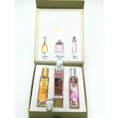 Подарочный набор парфюмов Dior женский 3x20ml(копия)