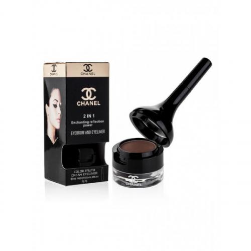Тени для бровей и подводка для глаз Chanel 2 in 1 Enchanting Reflection Power (коричневые)(копия)
