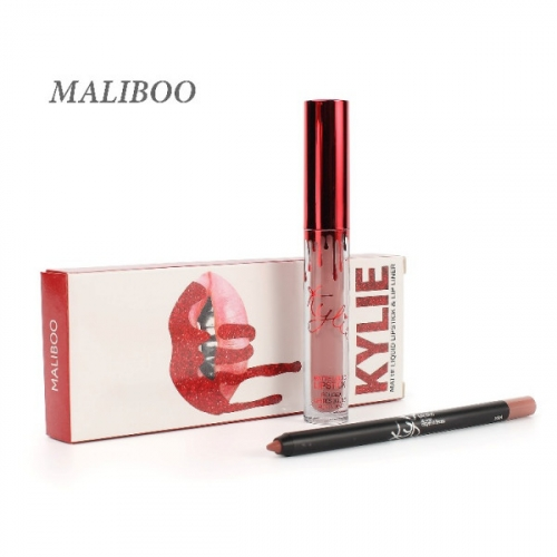 Набор Kylie Matte Liquid Lipstick and Lip Liner 2in1 Maliboo (помада и карандаш)(копия)