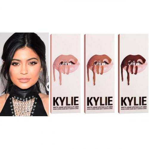 Помада жидкая матовая ультрастойкая и карандаш Kylie Matte Liquid Lipstick and Lip Liner (8шт)(копия)