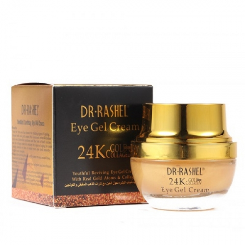 Гель-крем для ухода за кожей вокруг глаз DR.RASHEL 24K Gold Collagen Eye Gel Cream 20ml