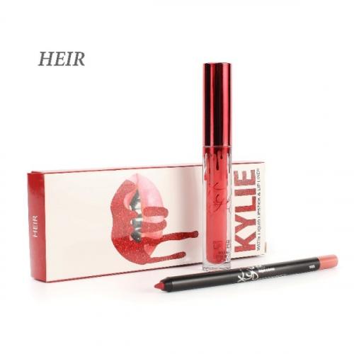 Набор Kylie Matte Liquid Lipstick and Lip Liner 2in1 Heir (помада и карандаш)(копия)