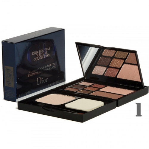 Набор для макияжа Dior Holiday Couture Collection Makeup Palette 18g+12g+12g (пудра, румяна и тени) №1(копия)